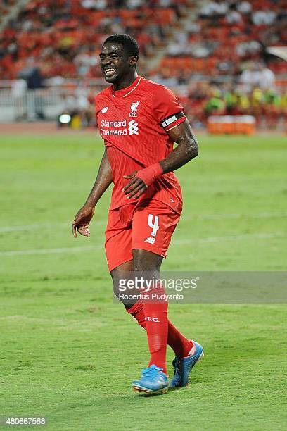 Kolo Toure of Liverpool in action during the international friendly match between Thai Premier League All Stars and Liverpool FC at Rajamangala...
