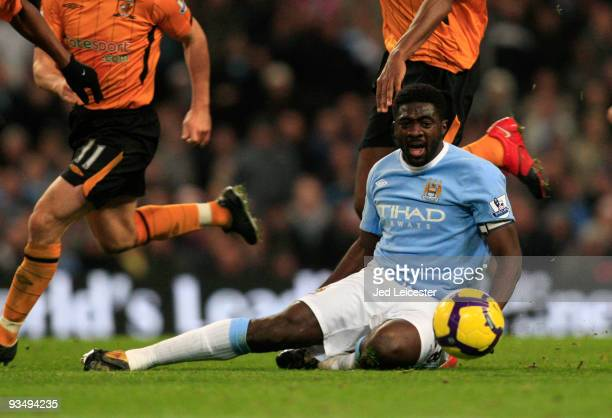 Kolo Toure of Manchester City during the Barclays Premier League match between Manchester City and Hull City at the City of Manchester Stadium on...