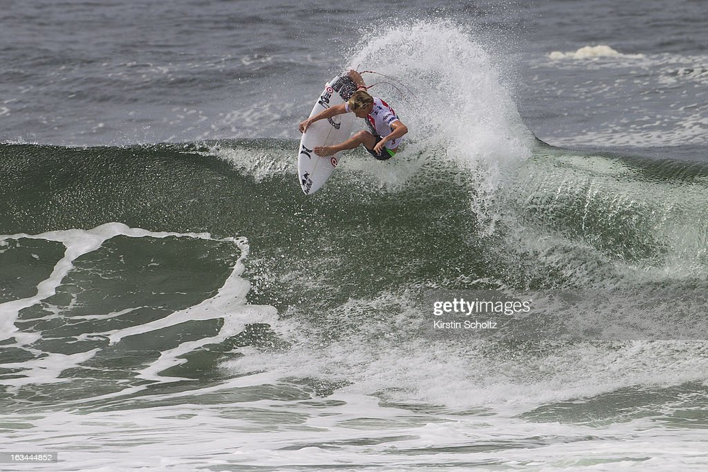 Kolohe Andino of the United States of America surfs during round two during the Quiksilver Pro on March 10, 2013 in Gold Coast, Australia.