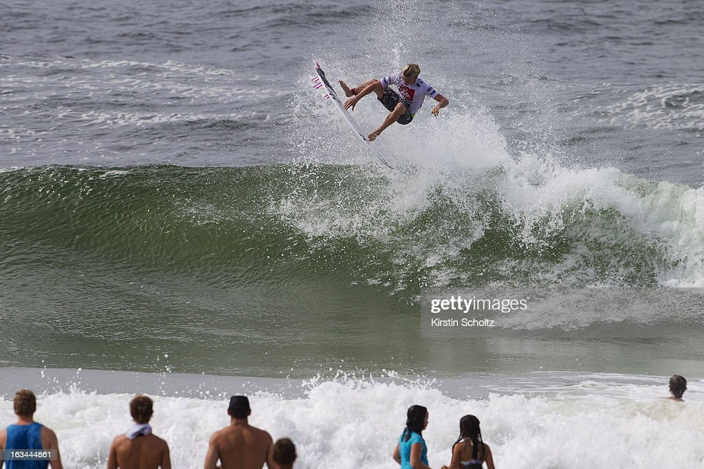 Kolohe Andino of the United States of America surfs during the Quiksilver Pro on March 10, 2013 in Gold Coast, Australia.