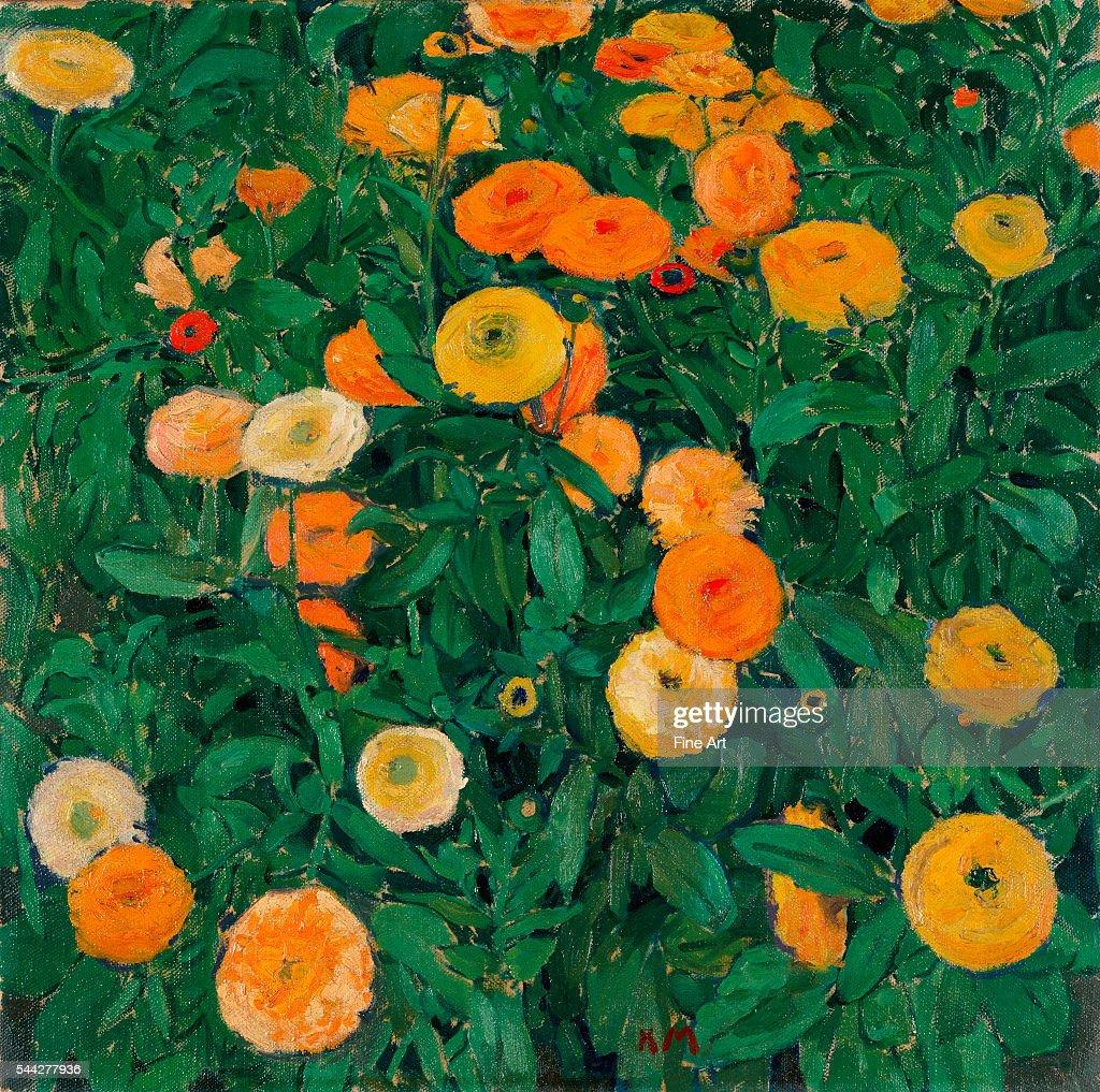 Koloman Moser Marigolds oil on canvas 503 x 502 cm Leopold Museum Vienna Austria