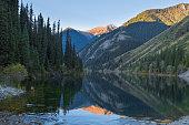 Kolsai Lake in Kazakhstan, which is a mountain lake in southern Kazakhstan.