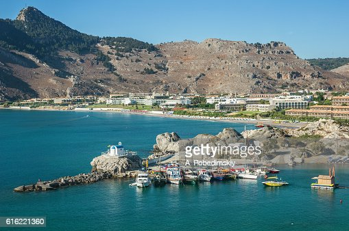 Kolymbia (Kolympia) resort and Limanaki beach, Rhodes Island, Greece : Stock Photo