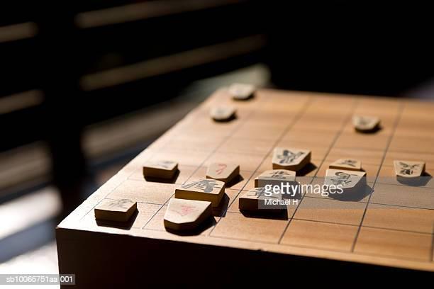 Koma pieces on shogi board
