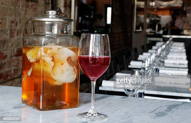 Kombuchaa fermented tea drink is all the rage right now Dandylion restaurant on Queen St West makes an amazing and beautiful version that they serve...