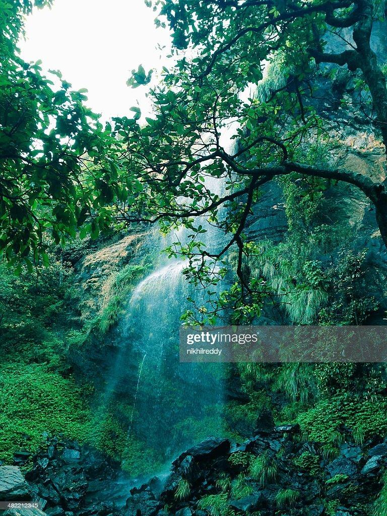 Komengundi, View of waterfall : Stock Photo