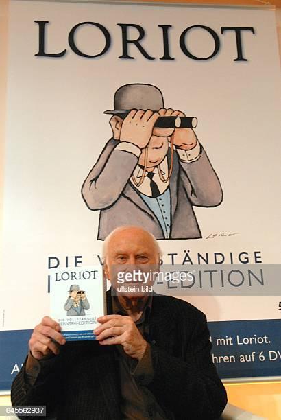 VICCO VON BÜLOW LORIOT Komiker Karikaturist Humorist Entertainer bei seiner letzten öffentlichen Präsentation seines filmischen Gesamtwekes an TV...