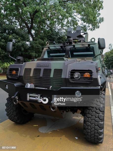 Komodo vehicle on display at Indonesian Millitary Industrial Exhibition at Indonesian Ministry of Defends in Jakarta Indonesia on 13 August 2017...
