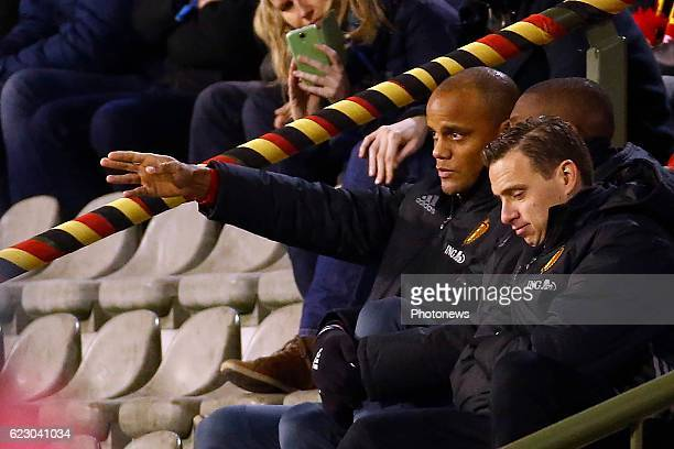 Kompany Vincent defender of Belgium during the World Cup Qualifier Group H match between Belgium and Estonia at the King Baudouin Stadium on November...