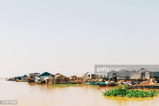 Kompong Khleang floating village on Tonle Sap Lake, Cambodia