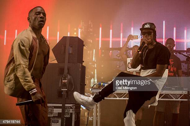 Konan and Krept of Krept and Konan performs onstage during day 1 of New Look Wireless Festival 2015 at Finsbury Park on July 3 2015 in London England