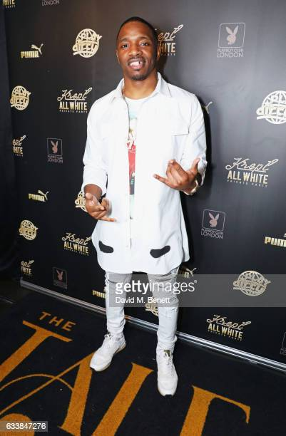 Konan attends Krept's all white attire private birthday party at The Playboy Club on February 4 2017 in London England