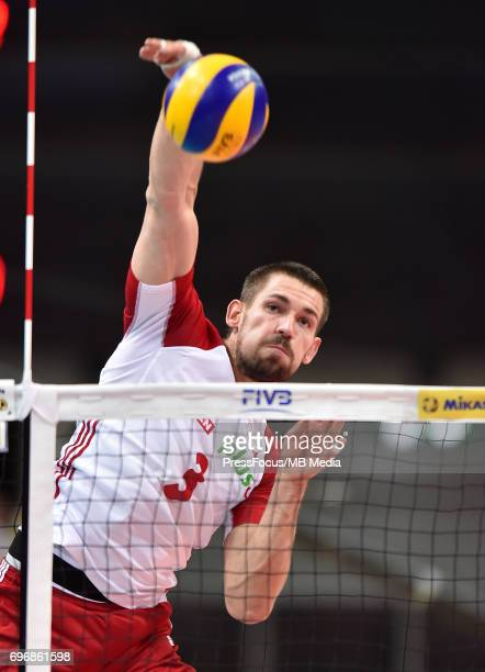 Konarski Dawid during the FIVB Volleyball World League 2017 match between Poland and Russia at Spodek on June 15 2017 in Katowice Poland