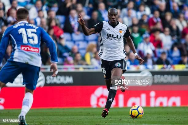 16 Kondogbia from France of Valencia CF during the match of La Liga Santander between RCD Espanyol v Valencia CF at RCD Stadium in Barcelona on 19 of...