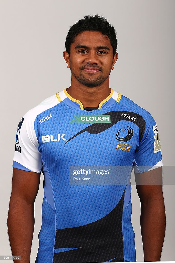 Konelio Maalonga poses during the Western Force 2016 Super Rugby headshots session on February 9, 2016 in Perth, Australia.