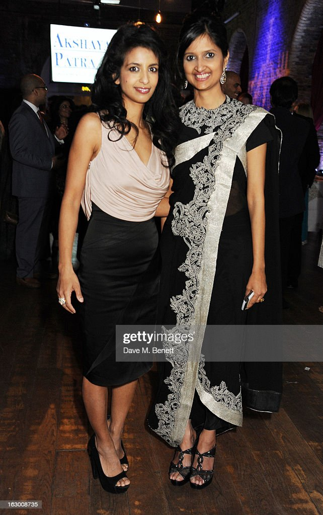 Konnie Hug and Dipika Khaitan attend a Fashion Gala fundraiser hosted by the Akshaya Patra Foundation for underpriveleged children in India, at Vinopolis, on March 2, 2013 in London, England.