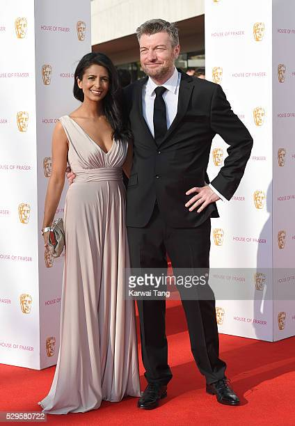 Konnie Huq and Charlie Brooker arrive for the House Of Fraser British Academy Television Awards 2016 at the Royal Festival Hall on May 8 2016 in...