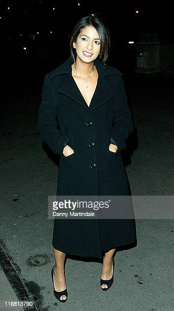 Konnie Huq attends the Save the Children's Festival of Trees Gala Dinner at Natural History Museum December 04 2007 in London England