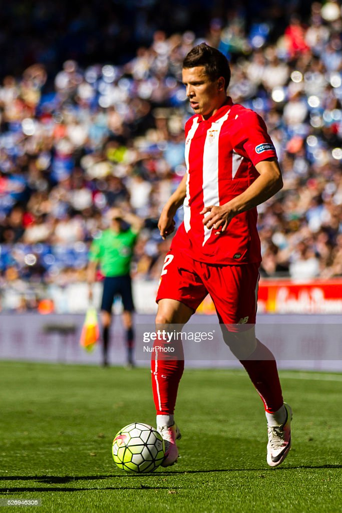 Konoplyanka during the match between RCD Espanyol and Sevilla CF, for the round 36 of the Liga BBVA, played at RCD Espanyol Stadium on 1th May 2016 in Barcelona, Spain.