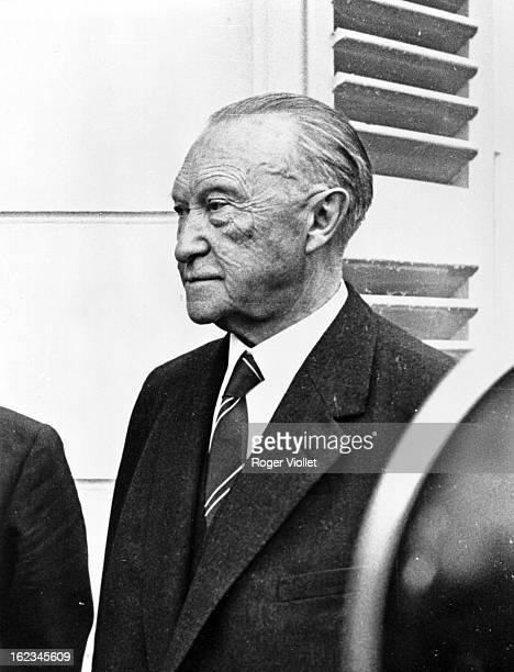 Konrad Adenauer German statesman during a visit of Charles de Gaulle French statesman to Bonn May 1961
