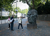 Konrad Adenauer statue in Bonn Germany 09 September 2014 Bonn that offers many touristic attractions was founded in the first century BC as a Roman...