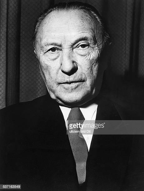 Konrad AdenauerKonrad Adenauer Politiker CDU BRD Porträt 1965