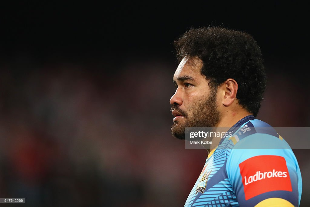 Konrad Hurrell of the Titans watches on during the round 19 NRL match between the St George Illawarra Dragons and the Gold Coast Titans at WIN Jubilee Stadium on July 15, 2016 in Sydney, Australia.