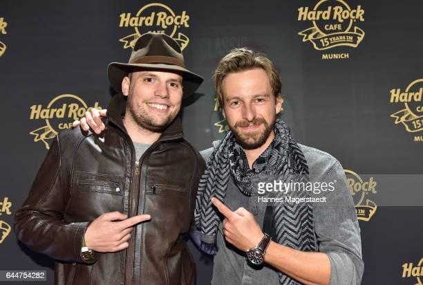Konrad Simon and Benedikt Blaskovic during the 15th anniversary celebration of the Hard Rock Cafe Munich on February 23 2017 in Munich Germany