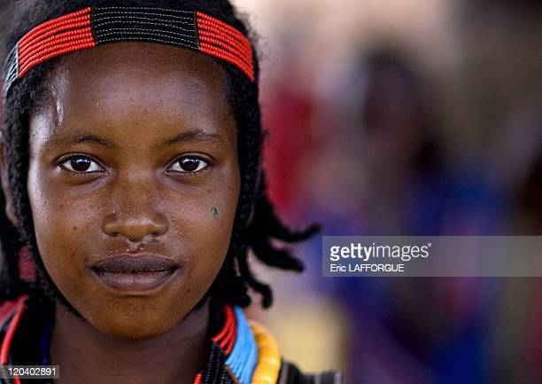Konso girl in Ethiopia on October 31 2008 The 60000 members of the Konso nation live in Central Ethiopia south of Lake Chamo in the Rift Valley They...