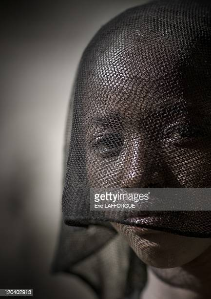 Konso veiled girl in Ethiopia on October 31 2008 This Konso girl has put a black veil to be protected from the sun this is not a religious sign The...