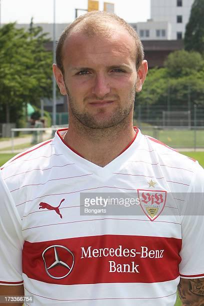 Konstantin Rausch poses during the VfB Stuttgart team presentation on July 10 2013 in Stuttgart Germany