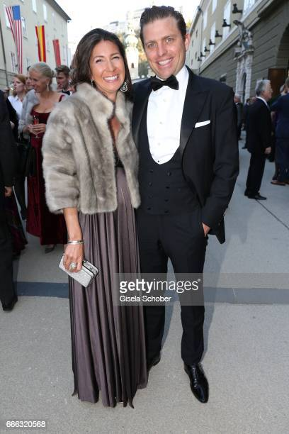 Konstantin Sixt and his pregnant wife Noni Sixt during the opening of the Easter Festival 2017 'Walkuere' opera premiere on April 8 2017 in Salzburg...
