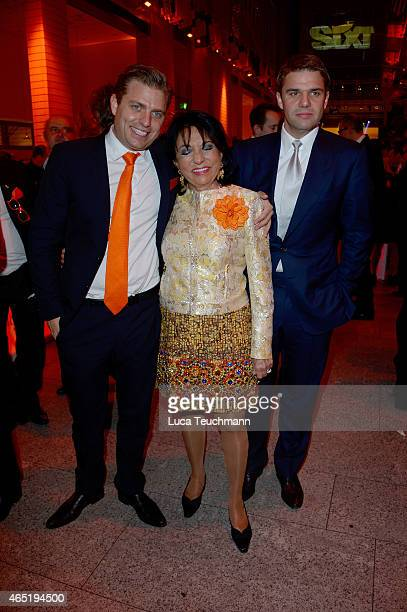 Konstantin Sixt Regine Sixt and Alexander Sixt attend The Night The Winners Meet Party Hosted By Sixt on March 3 2015 in Berlin Germany