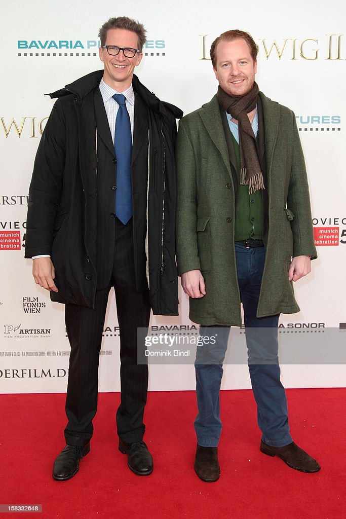 Konstantin von Bayern and Christian Alexander Dienst attend Ludwig II - Germany Premiere at Mathaeser Filmpalast on December 13, 2012 in Munich, Germany.