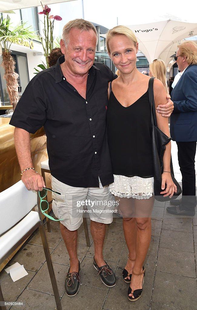 Konstantin Wecker and his wife Annik Wecker during the 'Sommerfest der Agenturen' at Hugo's on June 25, 2016 in Munich, Germany.