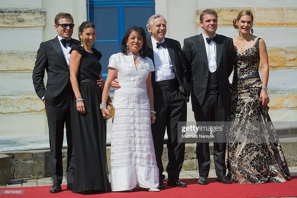 Konstantin Wolf Nani Sixt Regine Sixt Erich Sixt Andrea Lanz and Alexander Sixt attend the Bayreuth Festival Opening 2014 on July 25 2014 in Bayreuth...
