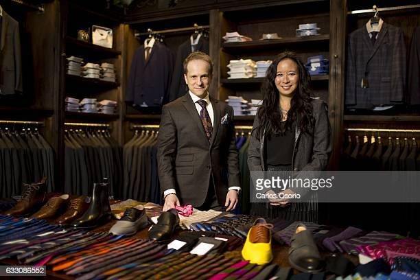 TORONTO ON DECEMBER Konstantine Malishevski the made to measure manager of GotStyle and Melissa Austria the owner of GotStyle Women's suit tailoring...