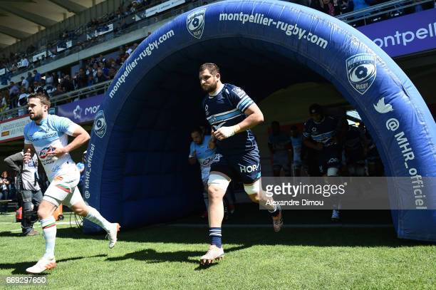 Konstantine Mikautadze of Montpellier during the Top 14 match between Montpellier and Bayonne on April 16 2017 in Montpellier France