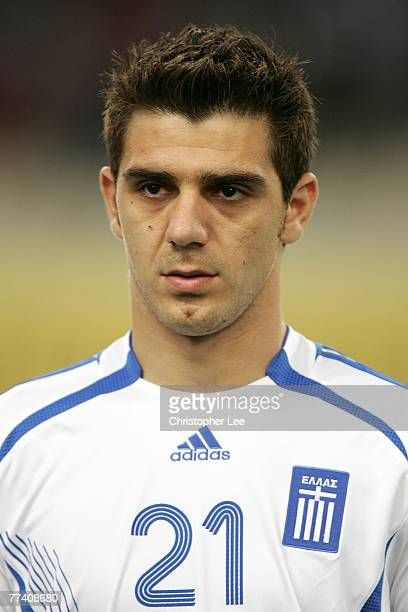 Konstantinos Katsouranis of Greece in action during the Euro 2008 Group C Qualifying match between Greece and Bosnia Herzegovina at the Olympic...