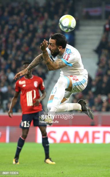 Konstantinos Kostas Mitroglou of OM during the French Ligue 1 match between Lille OSC and Olympique de Marseille at Stade Pierre Mauroy on October 29...