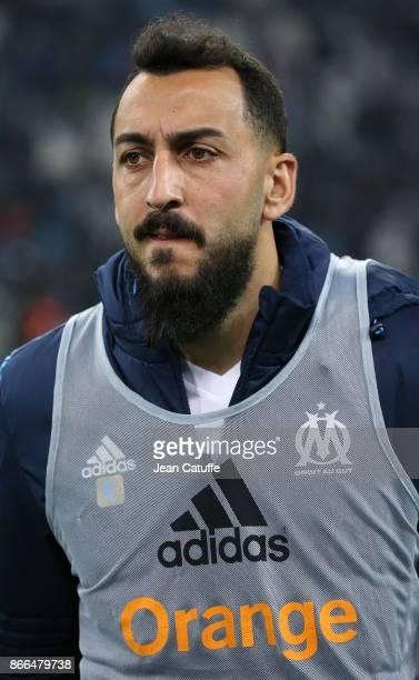 Konstantinos Kostas Mitroglou of OM following the French Ligue 1 match between Olympique de Marseille and Paris Saint Germain at Stade Velodrome on...