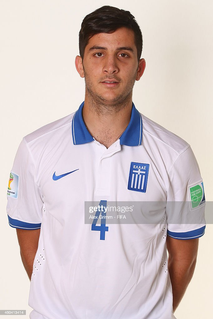 Konstantinos Manolas of Greece poses during the official FIFA World Cup 2014 portrait session on June 10, 2014 in Aracaju, Brazil.