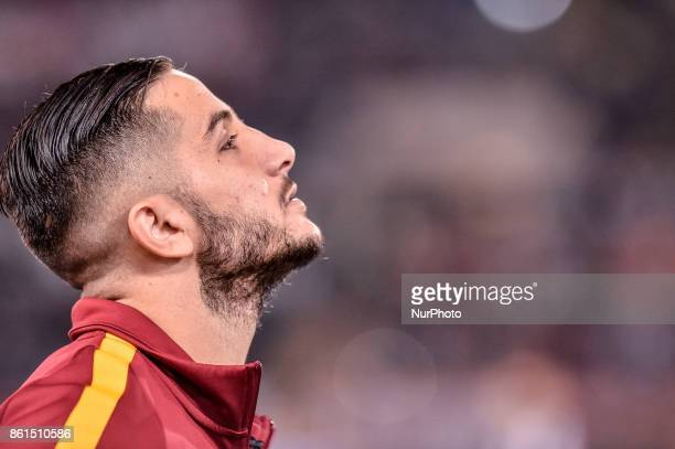 Konstantinos Manolas of Roma during the Serie A match between Roma and Napoli at Olympic Stadium Roma Italy on 14 October 2017