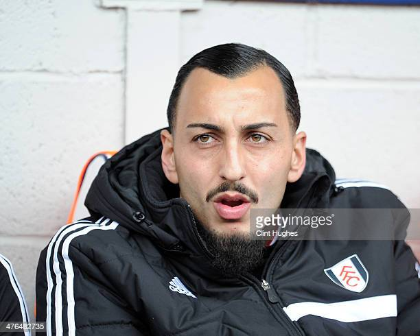 Konstantinos Mitroglou of Fulham during the Barclays Premier League match between West Bromwich Albion and Fulham at the Hawthorns on February 22...
