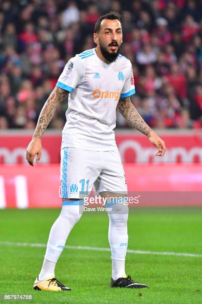 Konstantinos Mitroglou of Marseille during the Ligue 1 match between Lille OSC and Olympique Marseille at Stade Pierre Mauroy on October 29 2017 in...