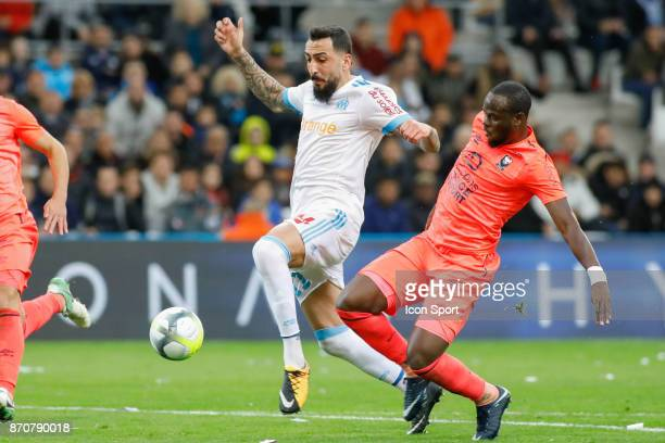 Konstantinos Mitroglou of Marseille during the Ligue 1 match between Olympique Marseille and SM Caen at Stade Velodrome on November 5 2017 in...