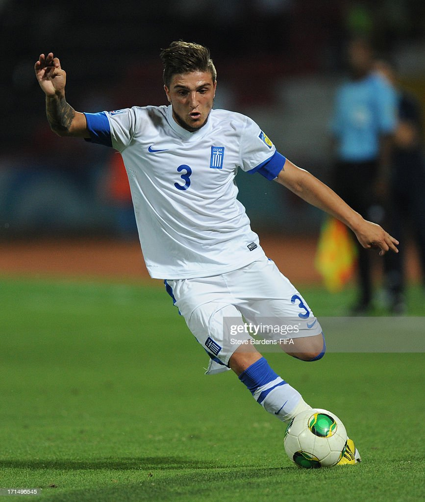 Konstantinos Stafylidis of Greece runs with the ball during the FIFA U20 World Cup Group D match between Mali and Greece at Kamil Ocak Stadium on June 25, 2013 in Gaziantep, Turkey.