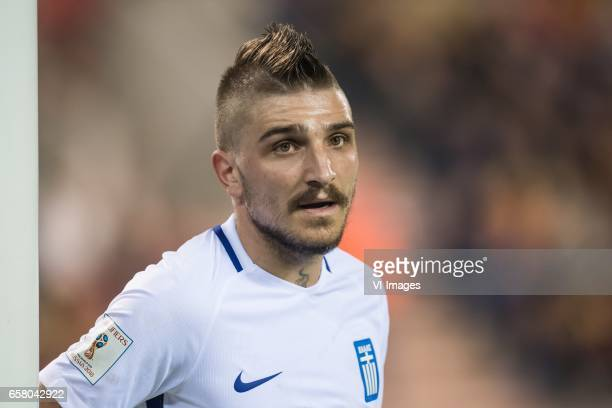 Konstantinos Stafylidis of Greeceduring the FIFA World Cup 2018 qualifying match between Belgium and Bosnie Herzegowina on October 07 2016 at the...