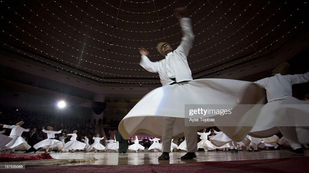Konya, Sufi whirling is a form of Sama or physically active meditation which originated among Sufis, and which is still practiced by the Sufi Dervishes of the Mevlevi order.