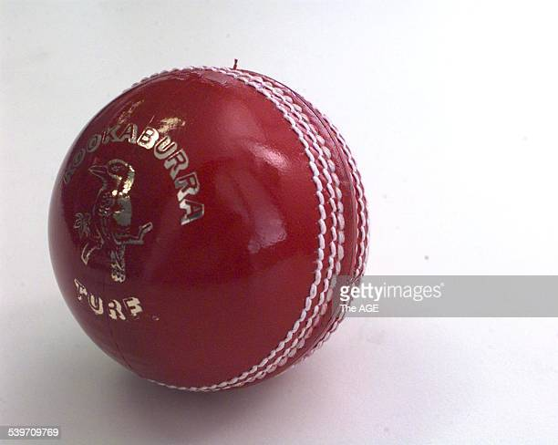 Kookaburra cricket ball 26 November 1997 THE AGE SPORT Picture by JOHN FRENCH